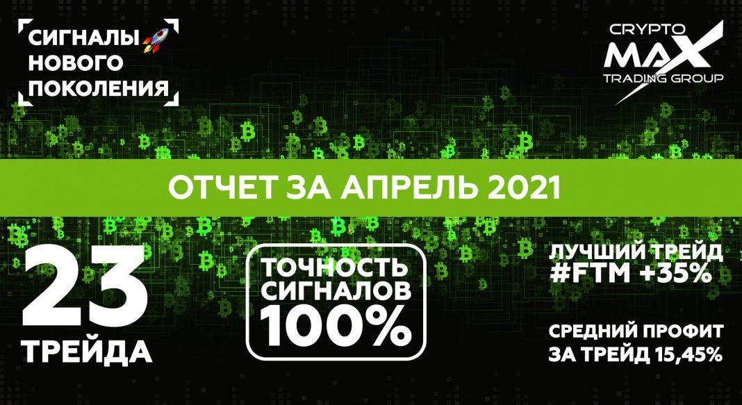 Отчет по сигналам CryptoMax за апрель 2021