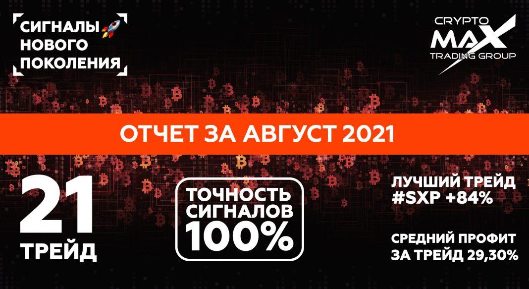 Отчет по сигналам CryptoMax за август 2021