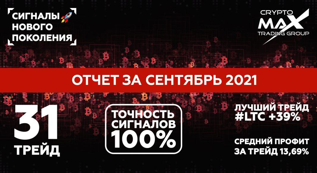 Отчет по сигналам CryptoMax за сентябрь 2021